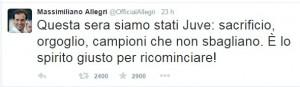 Allegri tweet