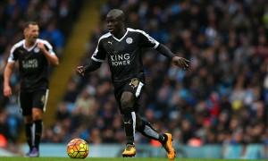 Ngolo Kante of Leicester City during the Barclays Premier League match between Manchester City and Leicester City played at The Etihad Stadium, Manchester on February 6th 2016