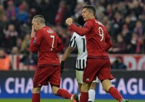 Lewandowski dopo il gol del 1-2