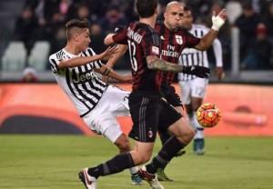 Il gol all'andata contro il Milan