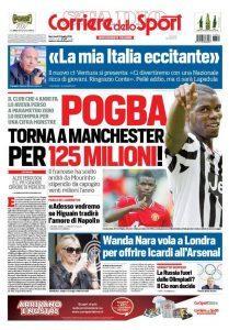 Prima pagina Corriere dello Sport