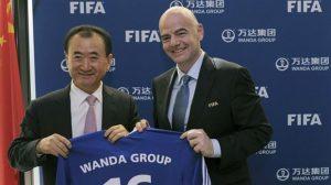 Il presidente di Wanda con Infantino