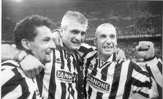 Baggio, Ravanelli e Vialli.