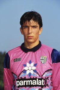 Un giovane Gigi Buffon nel suo primo anno a Parma