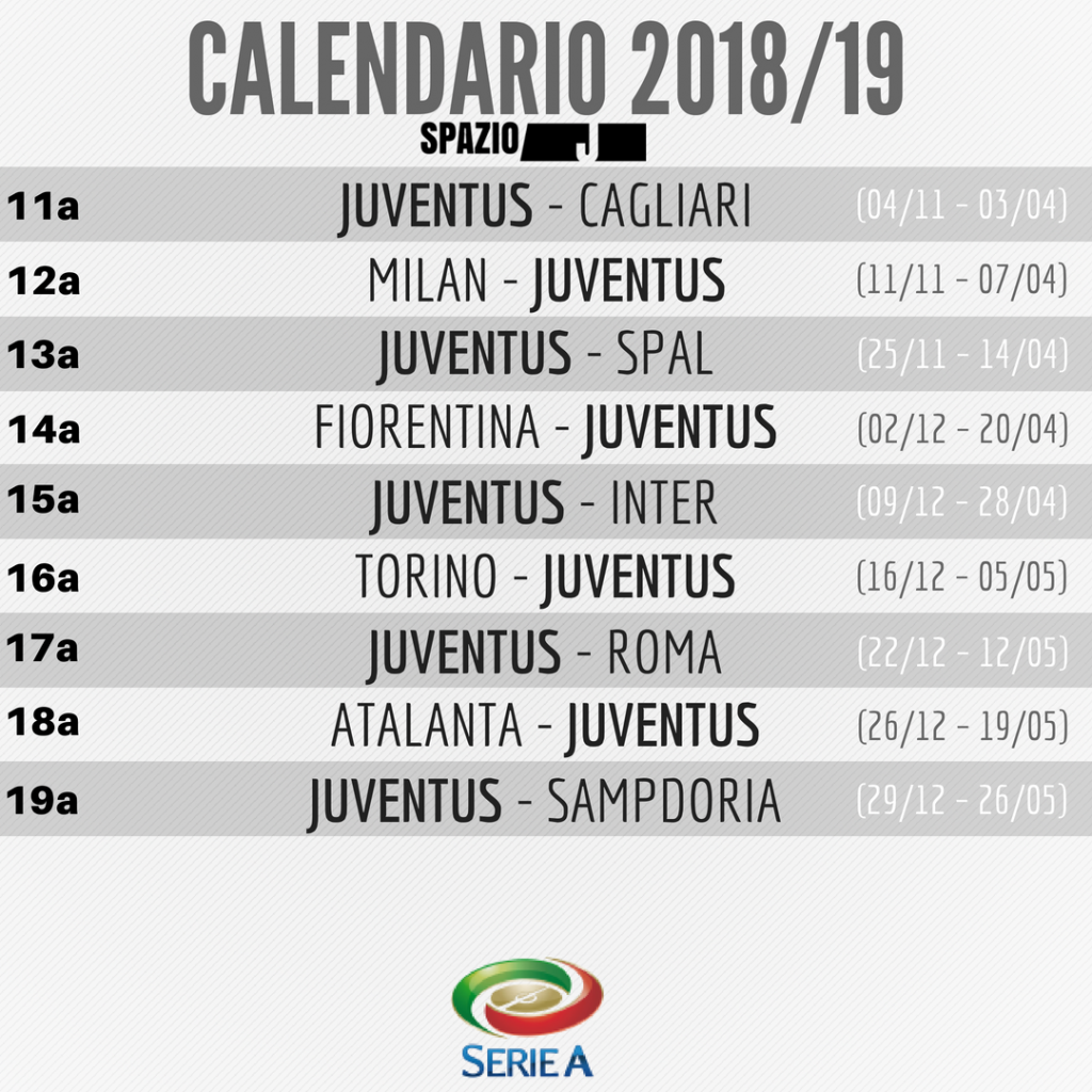 Calendario Juventus In Casa.Partite Dazn Calendario