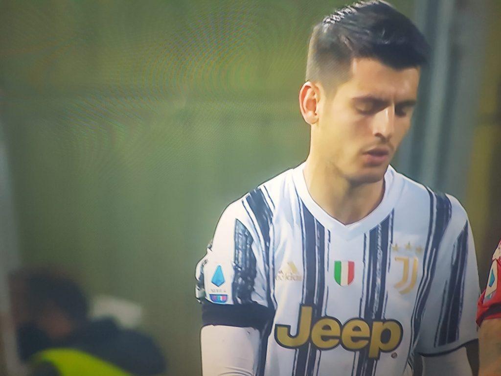 """Espulso Morata per aver detto all'arbitro: """"Come non fai a dare quel  rigore?"""""""