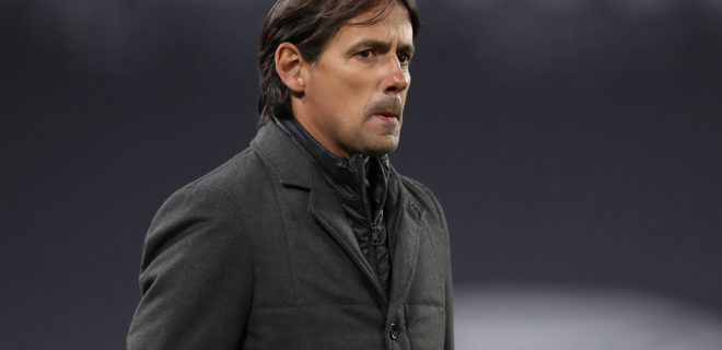 Simone Inzaghi Head coach of SS Lazio during the Serie A match at Allianz Stadium, Turin. Picture date: 6th March 2021. Picture credit should read: Jonathan Moscrop/Sportimage PUBLICATIONxNOTxINxUK SPI-0942-0057
