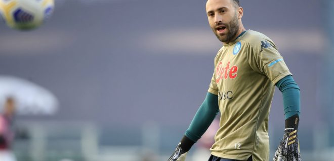 Turin, Italy, 7th April 2021.David Ospina of SSC Napoli during the warm up prior to the Serie A match at Allianz Stadium, Turin. Picture credit should read: Jonathan Moscrop / Sportimage PUBLICATIONxNOTxINxUK SPI-0990-0055