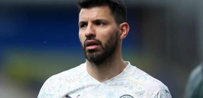 Crystal Palace v Manchester City - Premier League - Selhurst Park Manchester City s Sergio Aguero at full timeduring the Premier League match at Selhurst Park, London. Issue date: Saturday May 1, 2021. EDITORIAL USE ONLY No use with unauthorised audio, video, data, fixture lists, club/league logos or live services. Online in-match use limited to 120 images, no video emulation. No use in betting, games or single club/league/player publications. PUBLICATIONxINxGERxSUIxAUTxONLY Copyright: xStevenxPastonx 59507191
