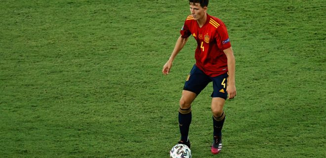 June 19, 2021, SEVILLA, SEVILLA, SPAIN: Pau Torres of Spain in action during the UEFA EURO, EM, Europameisterschaft,Fussball 2020 Group E football match between Spain and Poland at La Cartuja stadium on June 19, 2021 in Seville, Spain. SEVILLA SPAIN - ZUMAa181 20210619_zaa_a181_124 Copyright: xJoaquinxCorcherox