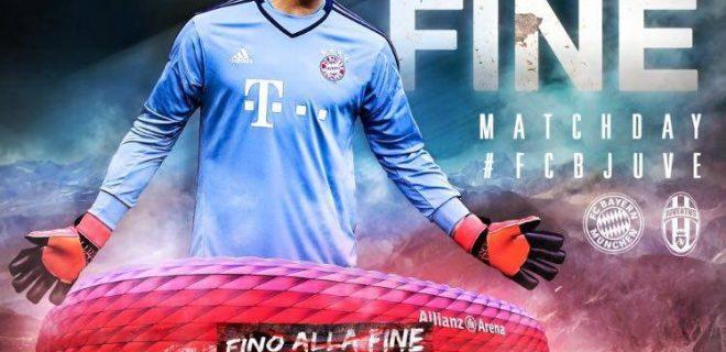 La grafica del Bayern Monaco, per l'ottavo di finale contro la Juve, che ha scatenato polemiche