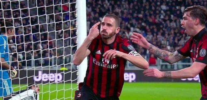 bonucci gol juventus milan 2018 spazioj