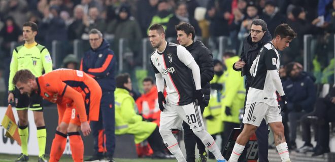Paulo Dybala of Juventus is substituted for Marko Pjaca during the Coppa Italia match at Allianz Stadium, Turin. Picture date: 15th January 2020. Picture credit should read: Jonathan Moscrop/Sportimage PUBLICATIONxNOTxINxUK SPI-0436-0045