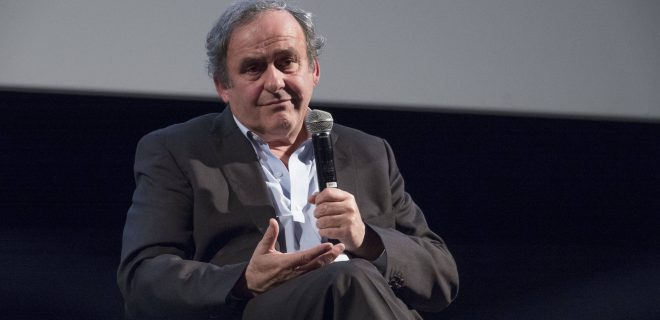 Michel Platini, French international football player, coach and then manager, UEFA president in 2007 NEWS : Festival Litterature et Cinema - Institut Lumiere - Lyon - 29/01/2020 SandrineThesillat/Panoramic PUBLICATIONxNOTxINxFRAxITAxBEL