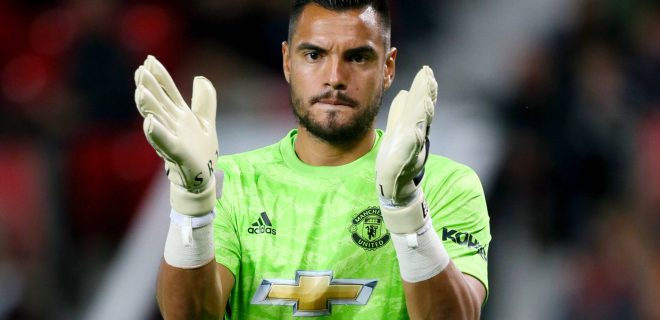 Sergio Romero file photo File photo dated 25-09-2019 of Manchester United, ManU goalkeeper Sergio Romero. FILE PHOTO EDITORIAL USE ONLY No use with unauthorised audio, video, data, fixture lists, club/league logos or live services. Online in-match use limited to 120 images, no video emulation. No use in betting, games or single club/league/player publica... PUBLICATIONxINxGERxSUIxAUTxONLY Copyright: xRichardxSellersx 56165718