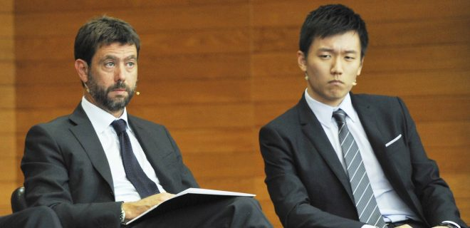 Milan, Italy ARCHIVE Andrea Agnelli and Steven Zhang during a conference on sports issues at Bocconi in Milan In the photo: Andrea Agnelli, Steven Zhang PUBLICATIONxINxGERxAUTxONLY Copyright: xNickxZonnax/xIPAx/xNickxZonnax
