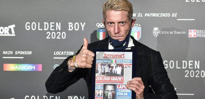 Photo LaPresse - Nicolo Campo December 14, 2020 Torino, Italy Soccer Golden Boy Awards 2020 - The Award as the best Under-21 in Europe by Tuttosport In the pic: Lapo Elkann PUBLICATIONxINxGERxSUIxAUTxONLY Copyright: xNicol& xf2xCampo/LaPresse Nicolx