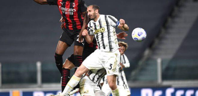 Mg Torino 09/05/2021 - campionato di calcio serie A / Juventus-Milan / foto Matteo Gribaudi/ Image nella foto: gol Fikayo Tomori PUBLICATIONxNOTxINxITA