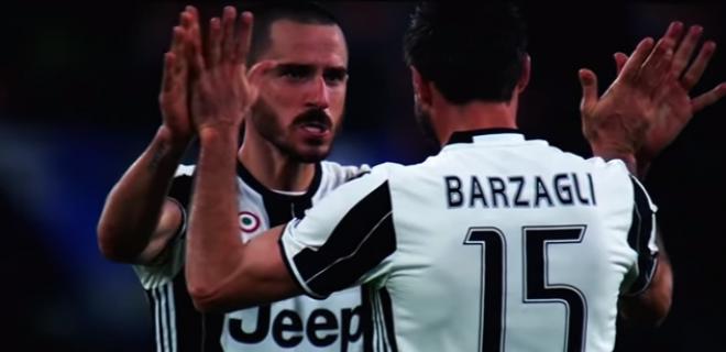 Barzagli e Bonucci juventus 2017