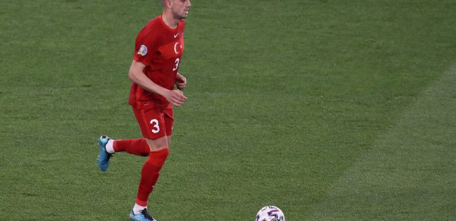 Rome, Italy, 11th June 2021. Merit Demiral of Turkey during the UEFA European Championships 2020 match at Stadio Olimpico, Rome. Picture credit should read: Jonathan Moscrop / Sportimage PUBLICATIONxNOTxINxUK SPI-1083-0191