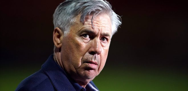 Carlo Ancelotti File Photo File photo dated 23-09-2020 of Carlo Ancelotti. Issue date: Thursday April 22, 2021. FILE PHOTO EDITORIAL USE ONLY No use with unauthorised audio, video, data, fixture lists, club/league logos or live services. Online in-match use limited to 120 images, no video emulation. No use in betting, games or single club/league/player publica... PUBLICATIONxINxGERxSUIxAUTxONLY Copyright: xDavexThompsonx 59341310
