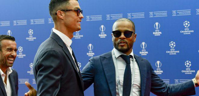 Christiano Ronaldo (Juventus de Turin) - Patrice Evra FOOTBALL : UEFA Draw - Champion s League - Monaco - 29/08/2019 NorbertScanella/PanoramiC PUBLICATIONxNOTxINxFRAxITAxBEL