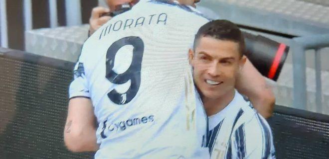 Morata Ronaldo esultanza