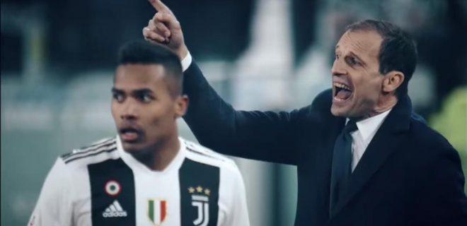 Massimiliano Allegri e Alex Sandro