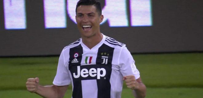 Cristiano Ronaldo esultanza