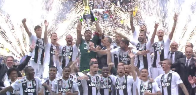 Premiazione Juventus scudetto 2017/2018