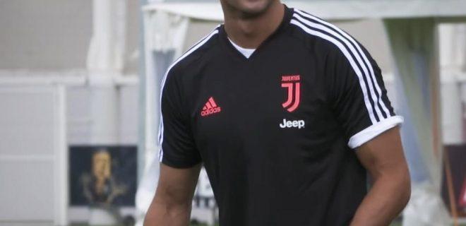 Cristiano Ronaldo allenamento