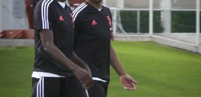 Matuidi e Alex Sandro allenamento