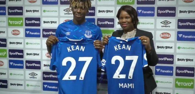 Moise Kean e mamma Kean presentazione Everton