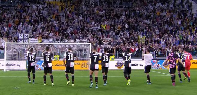 Juventus squadra sotto la curva