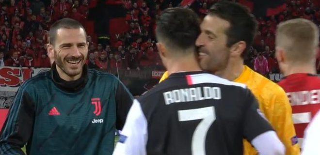 Buffon Bonucci e Ronaldo