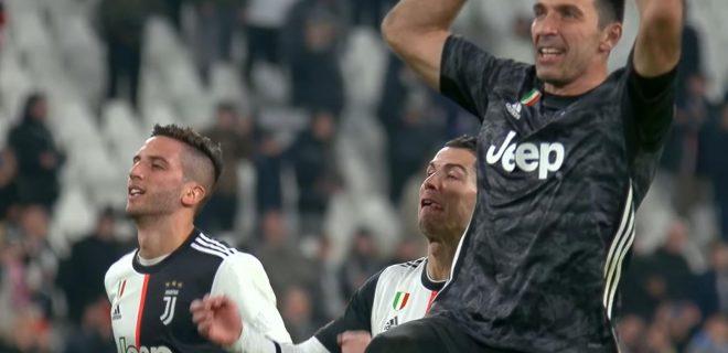 Buffon Bentancur e Ronaldo