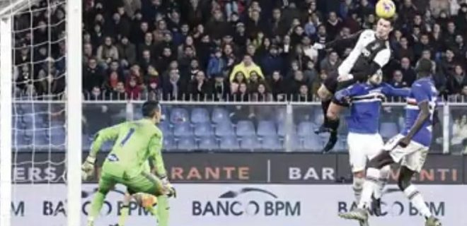 goal Ronaldo vs Sampdoria