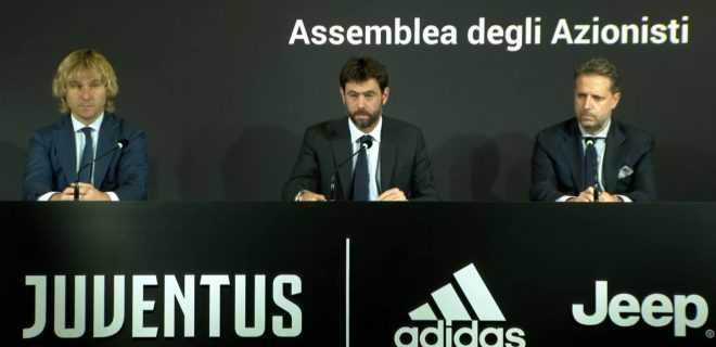 Agnelli Nedved e Paratici dirigenza Juventus