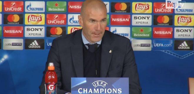 Zidane conferenza