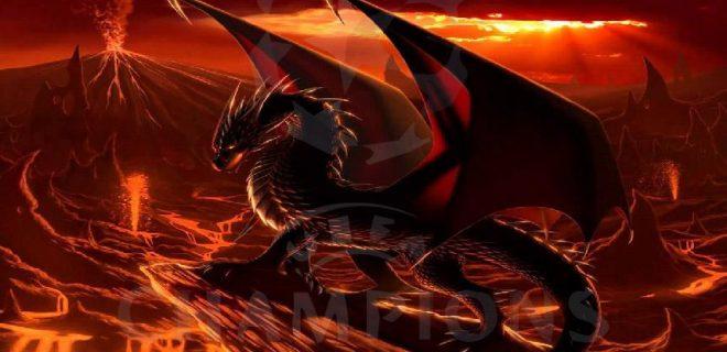drago rosso leggende gallesi
